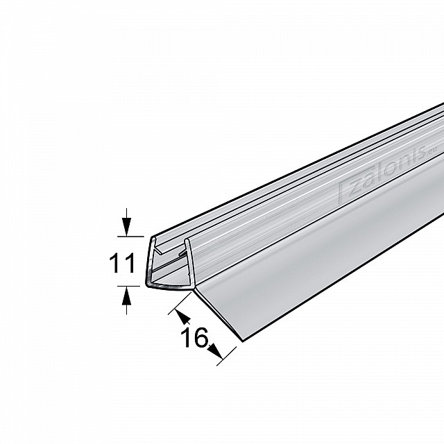 45 DEGREES FIN SHOWER SEAL FOR 6-8mm GLASS